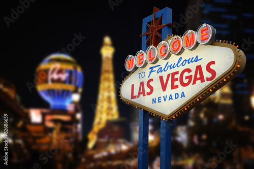 Poster Welcome to Fabulous Las Vegas Neon Sign