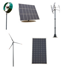 Small wind turbines and solar panel