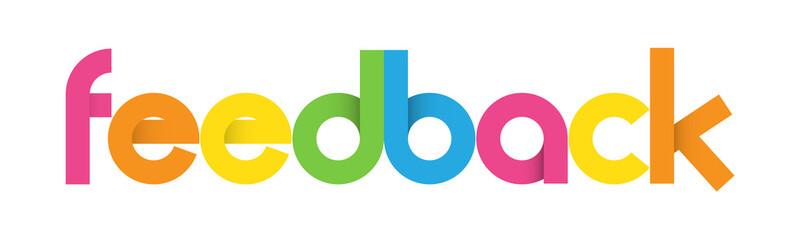 Multicoloured Letters Icon FEEDBACK