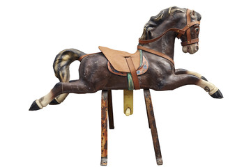 Old wooden and vintage Carousel Horse