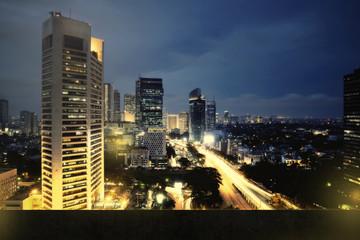 Jakarta City Nightscape Background