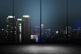 Fototapety City Night Background Inside Office Building