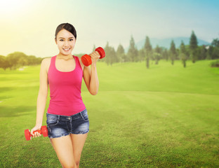 Woman Training Outdoor
