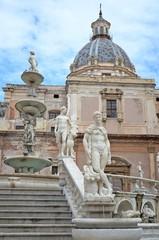 Pretoria fountain in Palermo, Italy