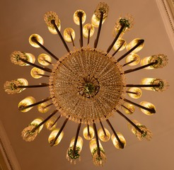The beauty of a chandelier