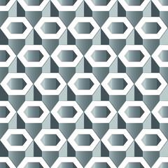 Silver Gray hexagon pattern seamless wallpaper, EPS 10 vector