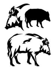 wild boar design set