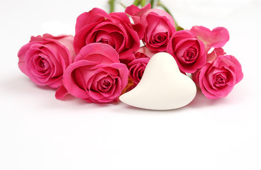 Herz mit Rosen