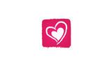 Coeur abstrait rose