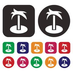 coconut tree vector icon