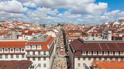 4K timelpase of Augusta street in Lisbon , Portugal - UHD