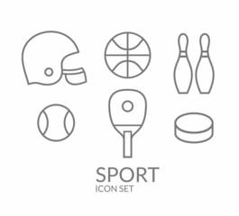 Sport. Icon set. Outline