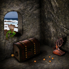 Treasure of the Caribbean - Photoshop Composing