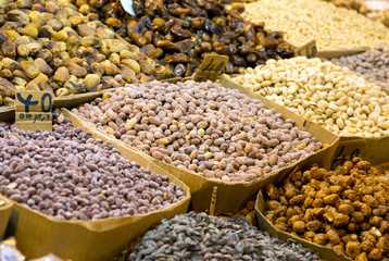 Assortment of nuts in Morocco