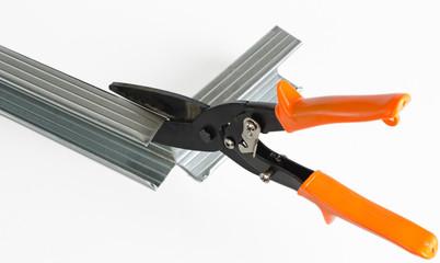 scissors on metal