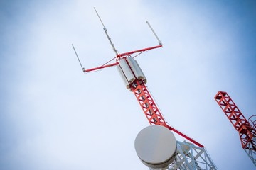 Mobile phone communication repeater antenna isolated