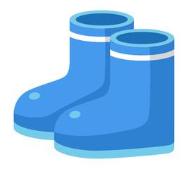 長靴〈青〉