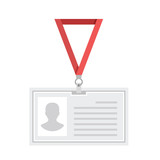 Vector lanyard badge template