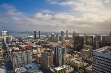View of downtown San Diego, California, USA.