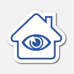 Logo maison et surveillance.