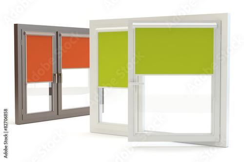 Window roller blind - white background - 82706858