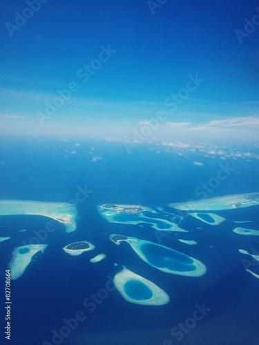 Leinwanddruck Bild Aerial View Maldives