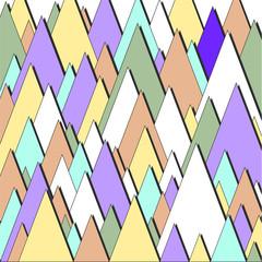 Vector triangular background. Pattern with warm colors.