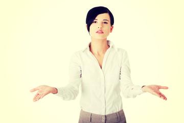 Unsure businesswoman