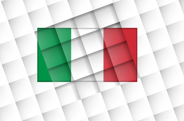 Italy flag on square