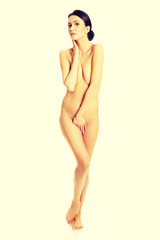 Full length of nude woman