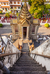 wat Arun temple stairway