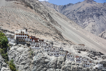Diskit monastery in Nubra valley, Ladakh, India