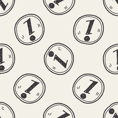 information doodle seamless pattern background