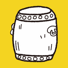 Chinese New Year; Chinese drum doodle