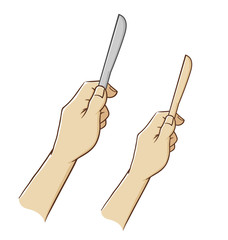 Hand Holding a Knife