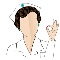Beautiful friendly and confident nurse , vector illustration