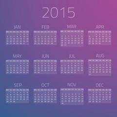 Gloss Calendar 2015 vector background