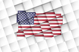 USA flag on disconnected squares poster