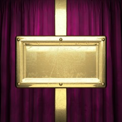 gold on red velvet curtain background