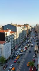 Traffic jam in istanbul street