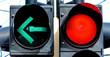 Leinwanddruck Bild - Ampel mit Rotlicht und Grünlicht