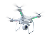 Fototapety Drone isolated on white background