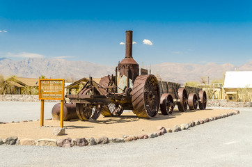 Coal Burning Old Dinah steam tractor at Furnace Creek Ranch in D