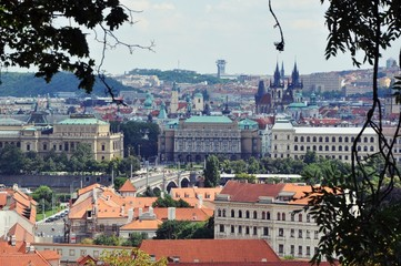 Panorama of the Czech town