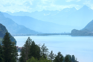 Lake Brienz summer view (Switzerland).