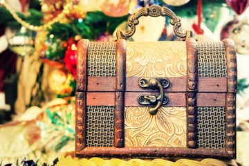 Retro Christmas Box Chest