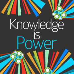 Knowledge Is Power Dark Colorful Elements