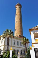 Faro marítimo de Chipiona, Costa de la Luz, Cádiz, España