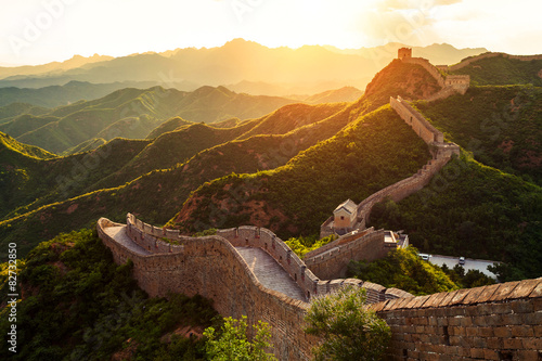 Papiers peints Pekin Great wall under sunshine during sunset