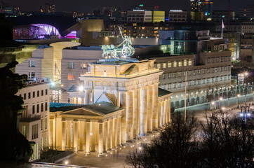 view of the illuminated brandenburger tor